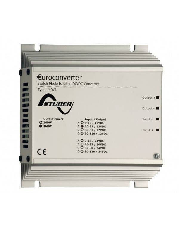 Converter DC/DC 100W isolated 9-120 Vdc 12-24Vdc Studer MDCI 100