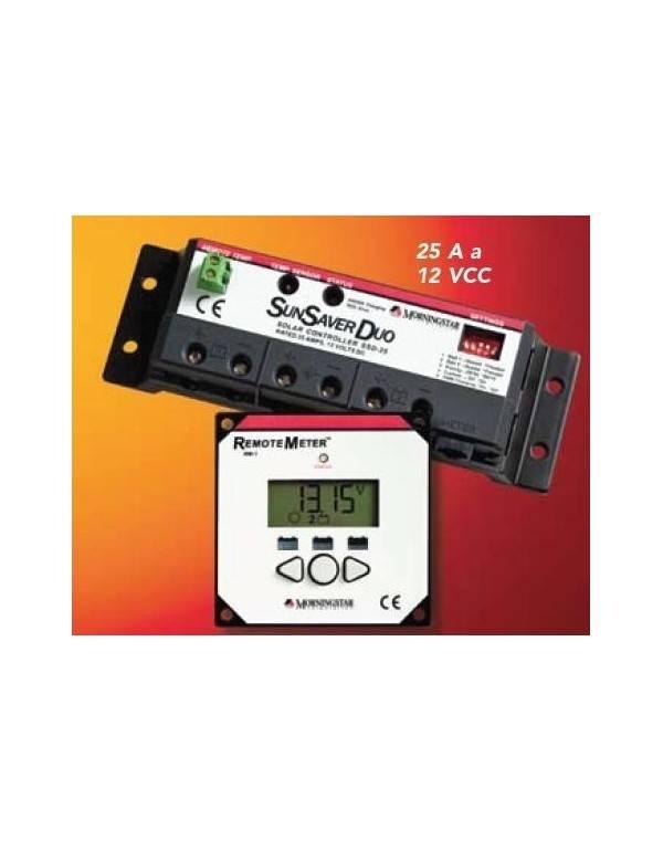 Regulador 25A PWM Morningstar SunSaver SSD-25RM