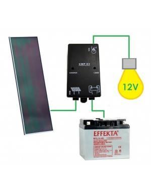 Kit solar aislada iluminación 12V 14W 20Ah