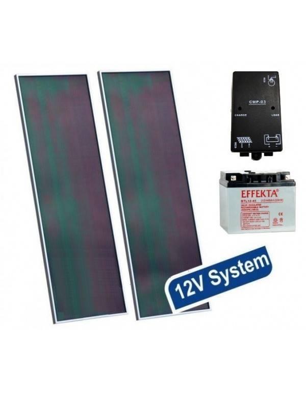 Solar off-grid lighting kit 12V 28Wp 20Ah