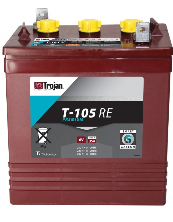 Battery T105RE Trojan deep cycle 6V 250Ah