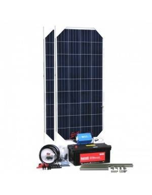 Off-grid solar lighting and TV kit