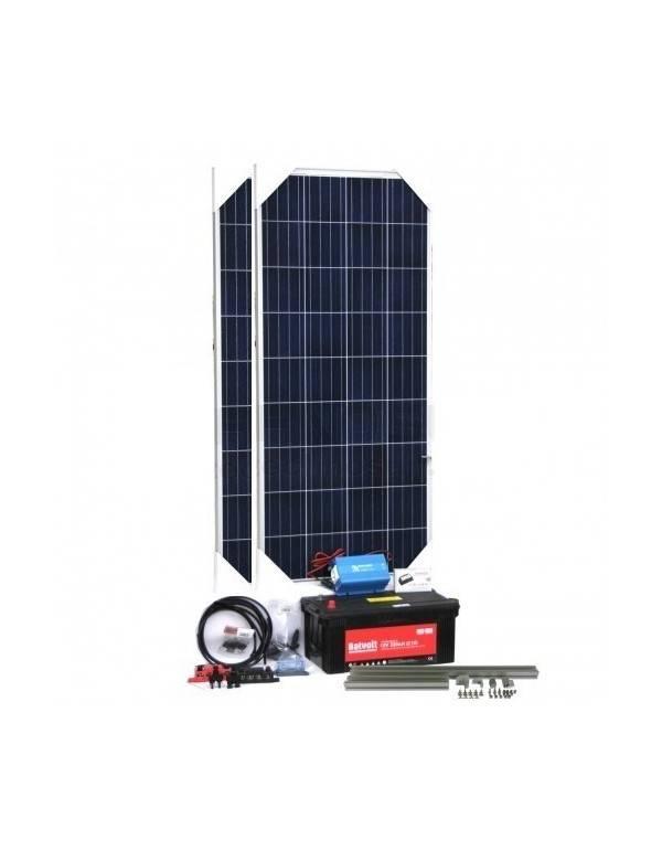 Solar off-grid lighting + TV kit
