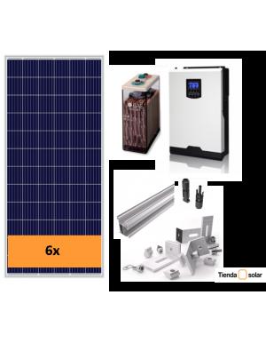 KIT SOLAR 3000 W y batería 6000 Wh día