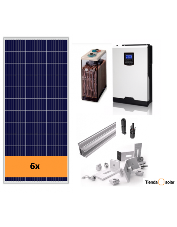 SOLAR KIT 3000 W and battery 6000 Wh day