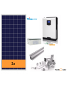 OFF-GRID SELF-CONSUMPTION SOLAR KIT 3000 W and batteries, with production 1500 Whday
