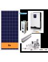 KIT SOLAR AUTOCONSUMO AISLADO 3000 W y baterías, con producción 3500 Whdía