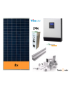 OFF-GRID SELF-CONSUMPTION SOLAR KIT 5000 W and batteries, with production 7000 Whday