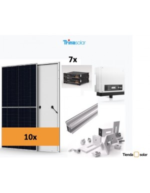 Grid connected self-consumption solar kit 4kW