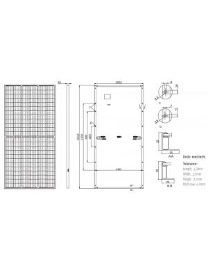 dimensiones panel solar LONGI 440W