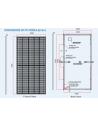 dimensions solar panel Trina 490W mono perc