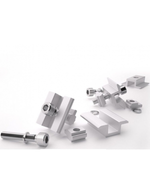 set of bolts and clamps