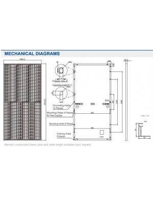 dimensions  solar panel JA Solar 405