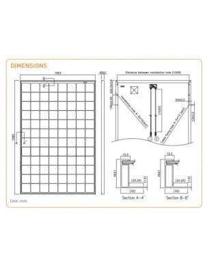 dimensions solar panel Panasonic HIT KURO