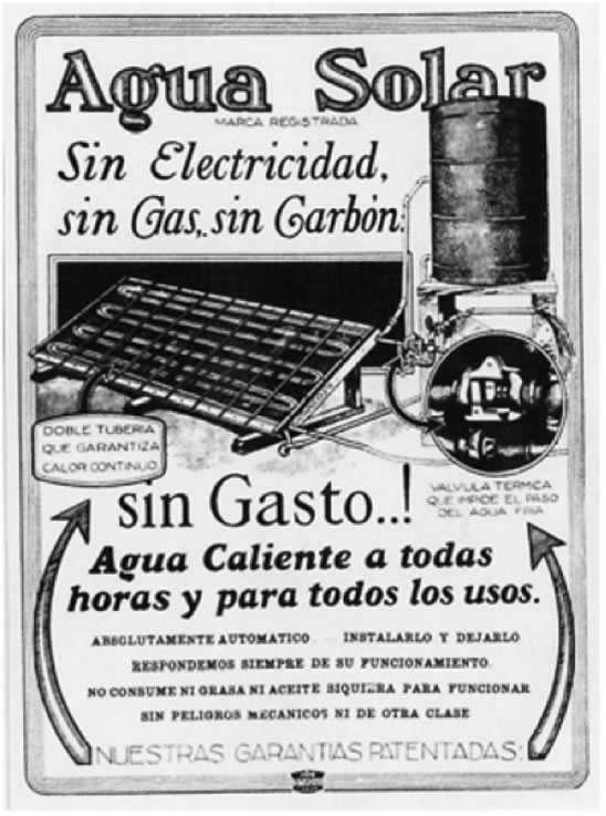 Cartel placas solares antiguo
